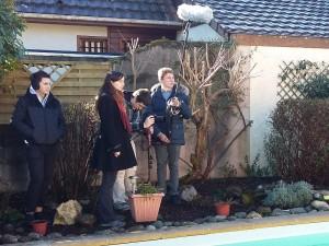 Equipe de tournage sous la direction de Mona Audisio