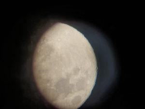 Lune à l'oculaire