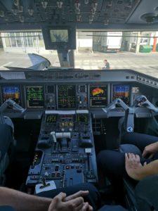 Cockpit du deuxième avion