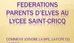 Federations parents d'elves au lycee saint-cricq