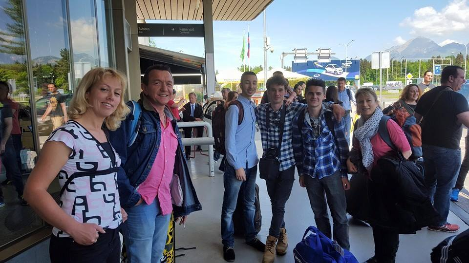 Arrivée à l'aéroport de Ljubljana