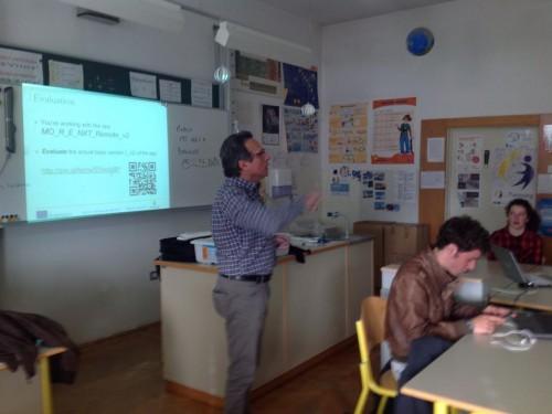 Danilo Nardi, enseignant lors de l'atelier de robotique