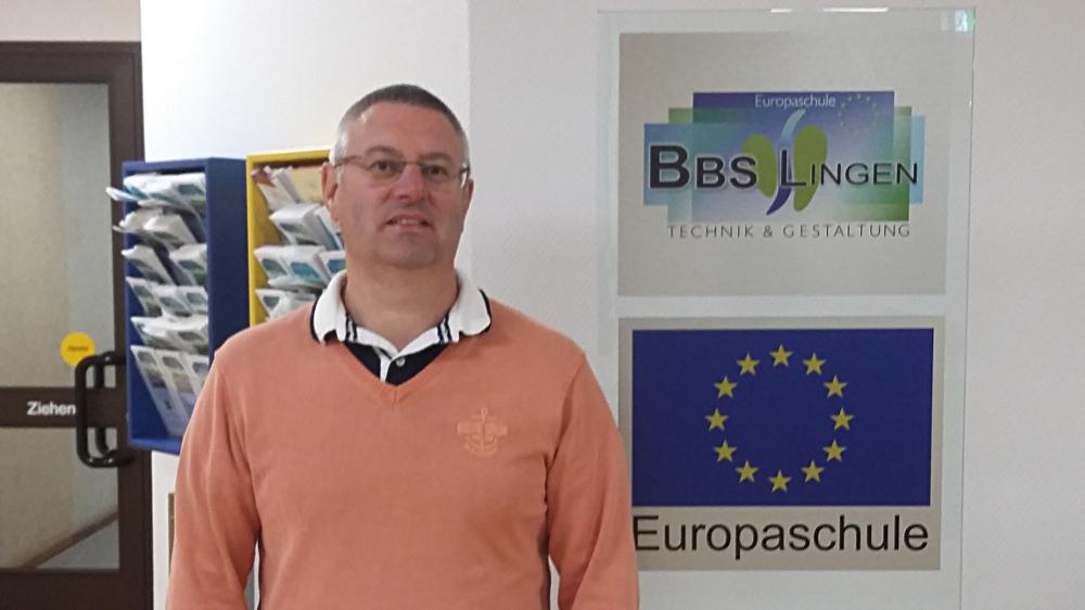 Laurent Gaben, enseignant des élèves accueillis en Allemagne par la BBS Lingen
