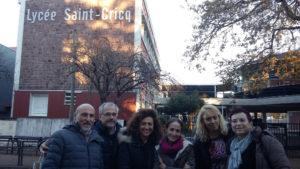 3 enseignants italiens (à gauche) et 3 slovènes (à droite)